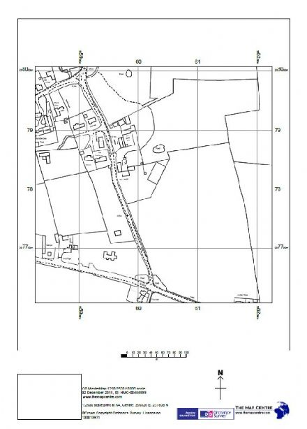 "1:2,500 Ordnance Survey A4 Sitemap ""Location Plan"" Paper - 6 copies sent by Post"